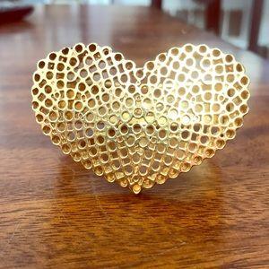 Juicy Couture 3D Gold Heart Bracelet